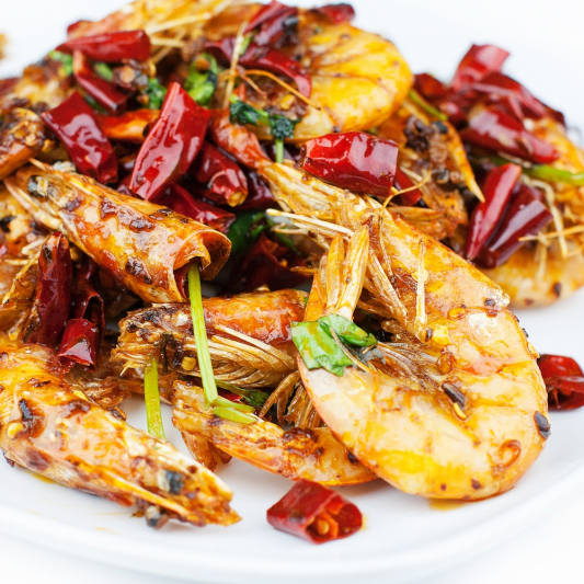 121. Hot-and-Spicy Shrimp