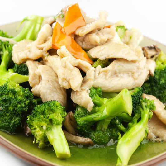 36C- Stir fried chicken & mixed vegetable