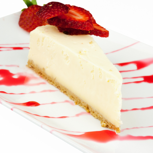 97. Cheesecake with Strawberry Topping