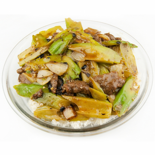 226. Sauteed Slice Beef and Seasonal Vegetable in Oyster Sauce