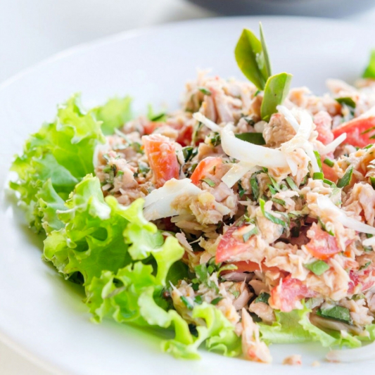 Spicy Tuna or Salmon Salad