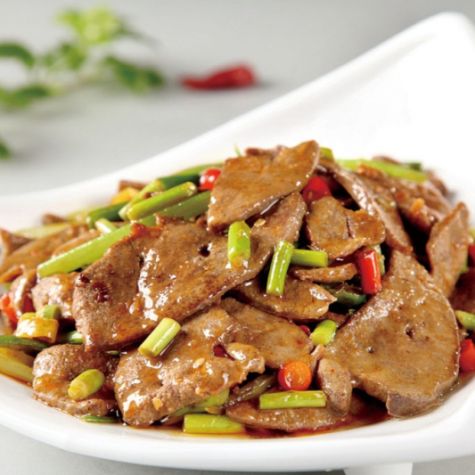 39. Blanched Pork Liver and Kidney with Vegetable