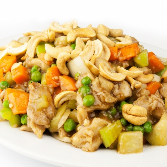 211. Pan Fried Diced Chicken with Cashew Nuts
