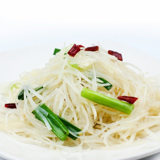 A8. Stir Fried Shredded Potato with Sour & Spicy