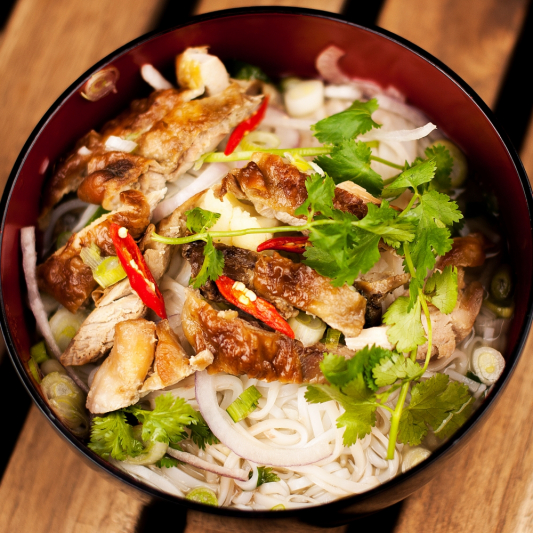 S1. Grilled Chicken with Rice Noodle Soup
