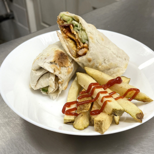 Kathi Roll Chicken with Homemade Fries
