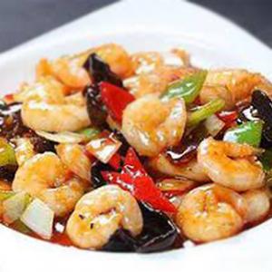 F05. Shrimp with Spicy Garlic 鱼香虾仁