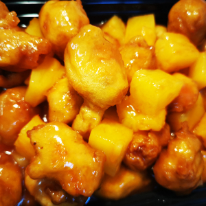 46. Chicken Balls with Pineapple