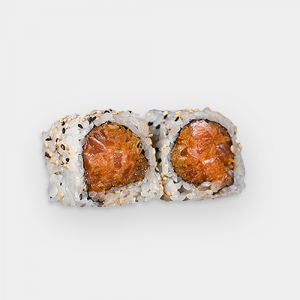 23.Spicy Salmon & Crunch Roll
