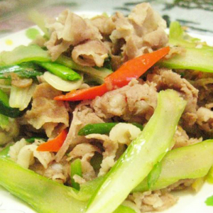 A10. Sauteed Lamb with Celery 西芹炒羊肉