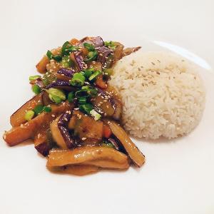 Miso Eggplant and Rice Vegan