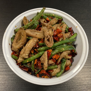 T2. Pork Intestines with Chilli Peppers