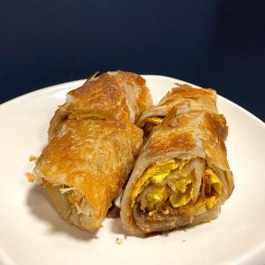 D7. Pork Floss with Egg Rolls
