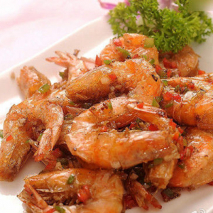 F02. Deep-Fried Shrimp with Salt & Pepper 椒盐虾