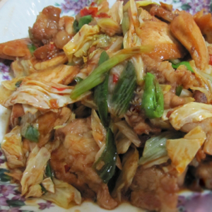 A13. Fried Lamb with Cabbage 回锅羊肉