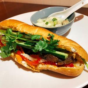 Vegan Banh Mi with Wonton Soup