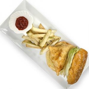 Samosa Burger with Homemade Fries