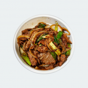 B2. Black Pepper Beef with Scallions