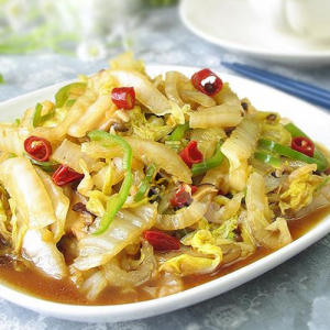 G15. Stir-Fried Preserved Cabbage with Crystal Noodle酸菜炒粉条