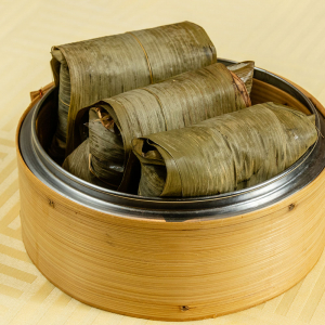 154. Steamed Sticky Rice Wrapped with Bamboo Leaf
