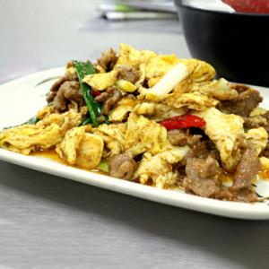 A15. Stir-Fried Lamb with Scrambled Eggs 桂花羊肉