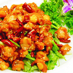 D08. Szechwan Style Chilli Chicken 特色辣子鸡