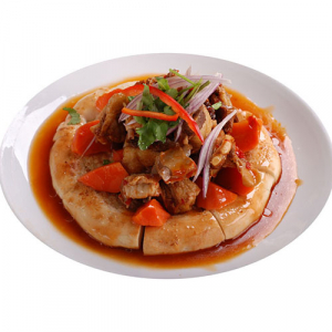 A12. Fried Lamb with Bread 回民馕包羊肉