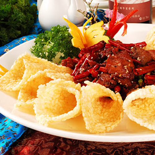 A07. Fried Lamb with Crispy Rice 锅巴羊肉