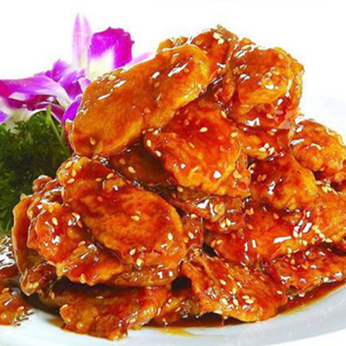 B11. Fried Beef Slice with Sweet & Sour Sauce 锅包牛肉