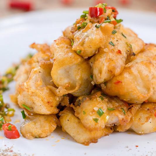 65. Dry Garlic Spice Fish