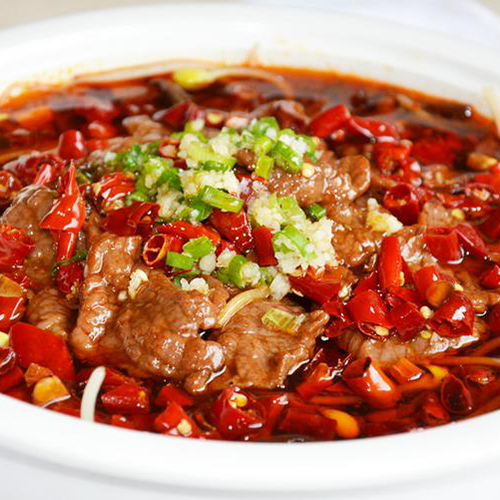 B06. Beef with Hot Chili Oil in Soup 沸腾牛肉