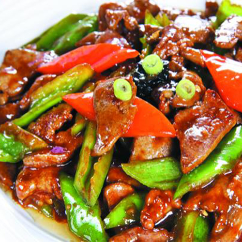 A11. Sauteed Lamb with Green Chilli Pepper 尖椒炒羊肉