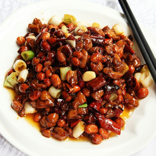 38. Diced Chicken with Peanuts & Chilli