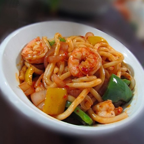 H28. Fried Noodle with Shrimp 虾炒面
