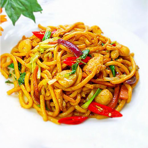 H24. Fried Noodle with Chicken 鸡炒面