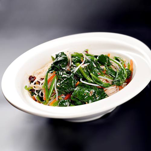 J20. Cold Glass Noodle with Spinach 菠菜拌粉