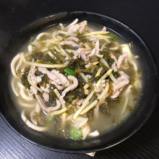 N3. Pork with Salted Veggie Noodle Soup