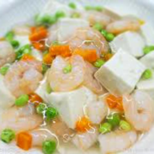 F08. Stir-Fried Shrimp with Tofu 虾仁豆腐