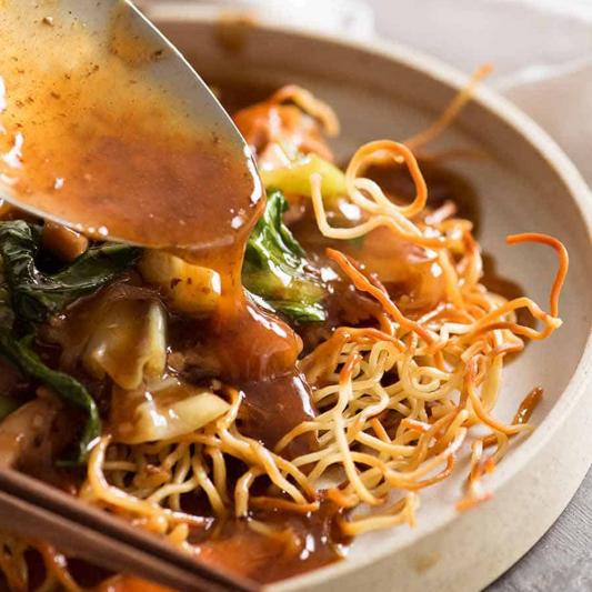 96. Chicken Satay Sauce Chow Mein