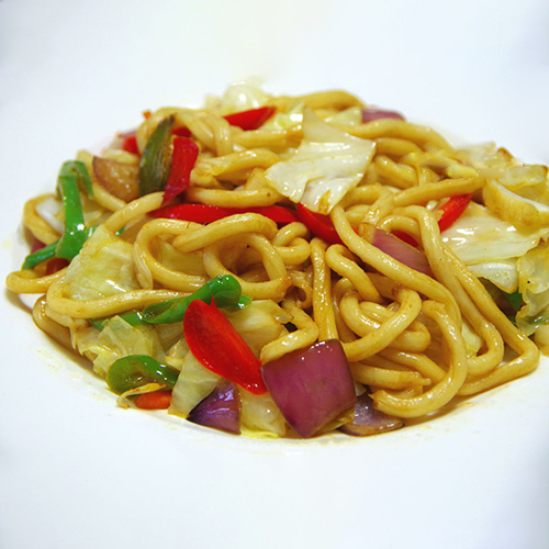 H26. Fried Noodle with Mixed Vegetable 杂菜炒面
