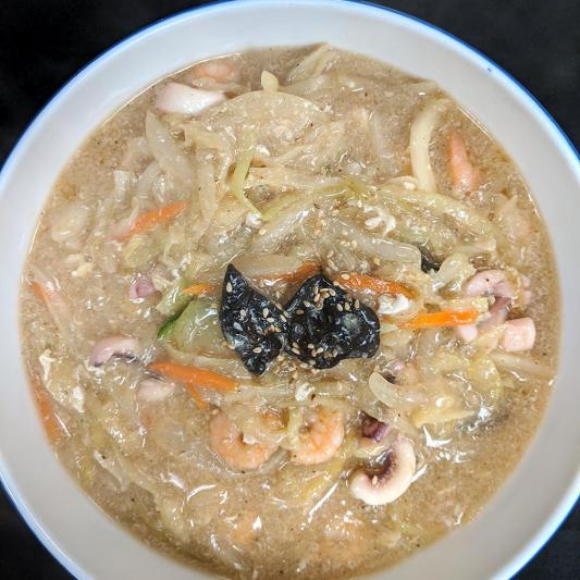 N3. Seafood & Egg Drop Noodle