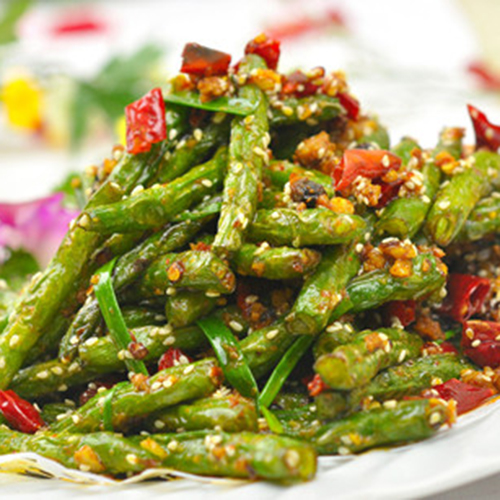 G20. Dry Sauteed Green Bean with Meat 干煸四季豆