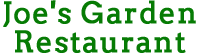 Joe's Garden Restaurant logo