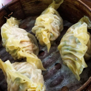 L5. Shrimp, Pork, and Cilantro Dumplings (4 pcs)