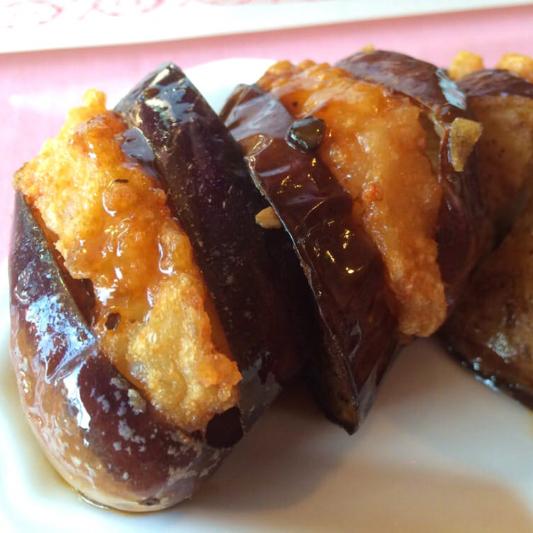 L9. Eggplant with Shrimp Stuffing (3 pcs)