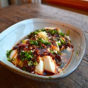 178. Steamed Tofu Sheets w/ Preserved Pork 鹹肉蒸百頁