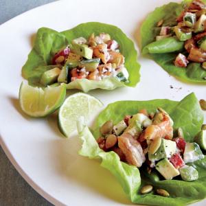 Meat or Shrimp in Lettuce Cups