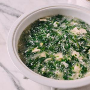 66. Shepherb Pork with Shepherbs Purse and Tofu Soup