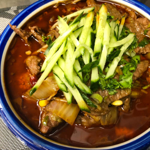 230. Sliced Beef in Hot Chili Oil 水煮牛肉