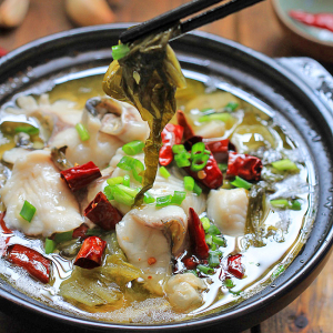 49. Boiled Sliced Fish with Pickled Cabbage